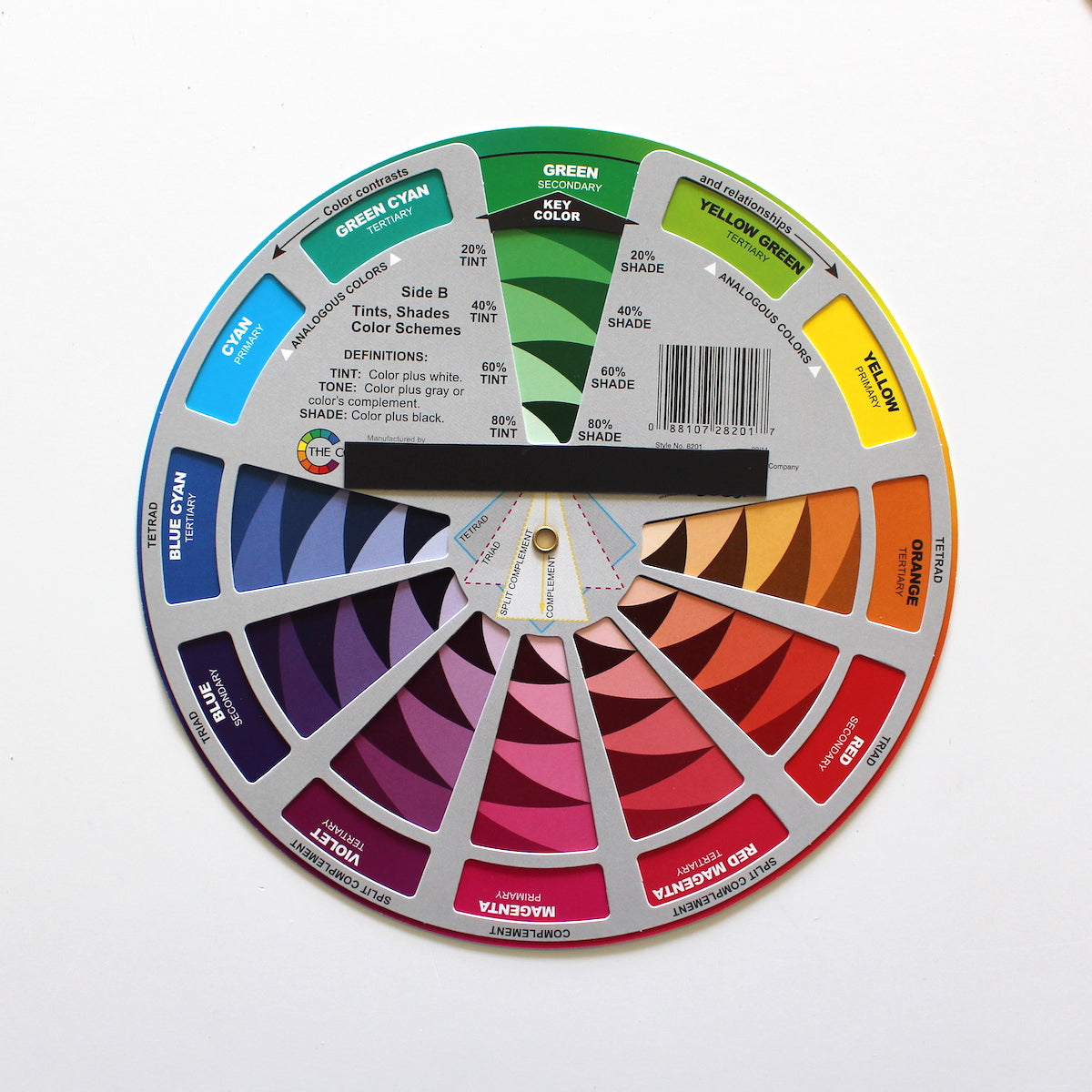 CMY Color Wheel with magnet strip on the back