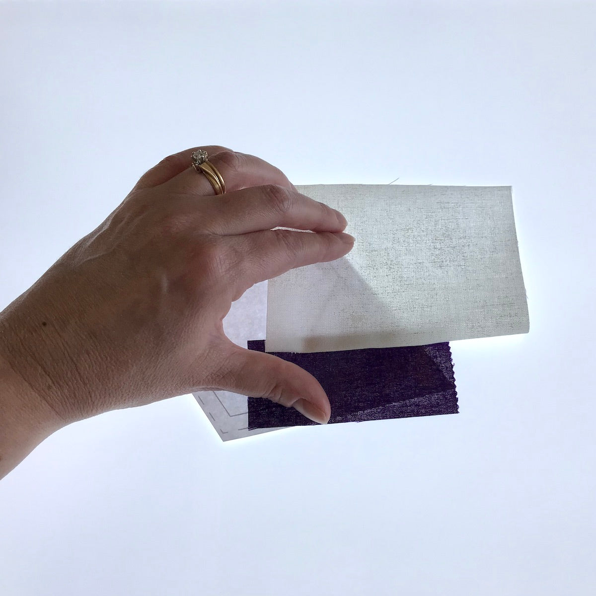 Foundation Paper Piecing on a light box