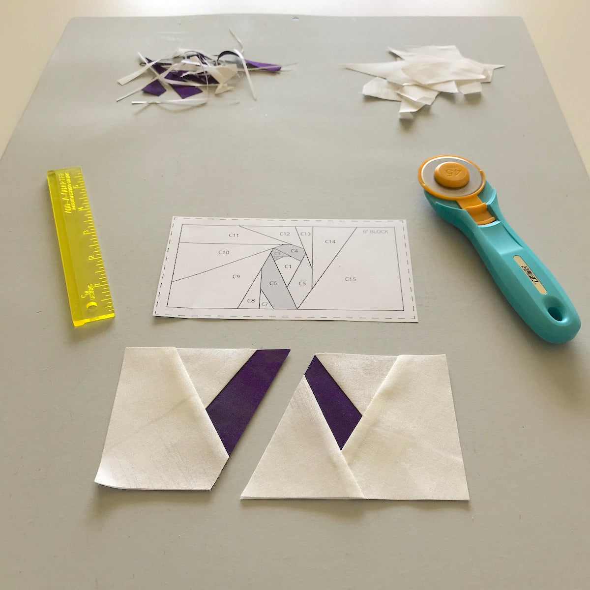 foundation paper piecing workspace