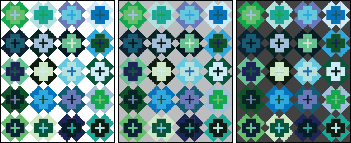 Nightingale Quilt in analogous colors - Sewfinity.com