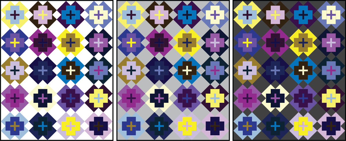 Nightingale Quilt in complementary colors - Sewfinity.com