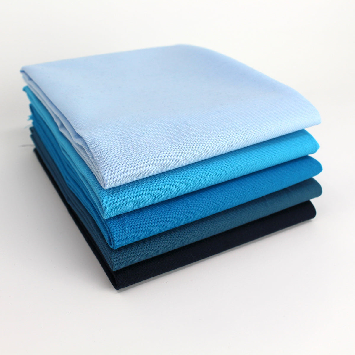 Cyan 5 Fat Quarter Bundle - Kona Cotton