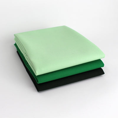 Green 3 Fat Quarter Bundle - Kona Cotton
