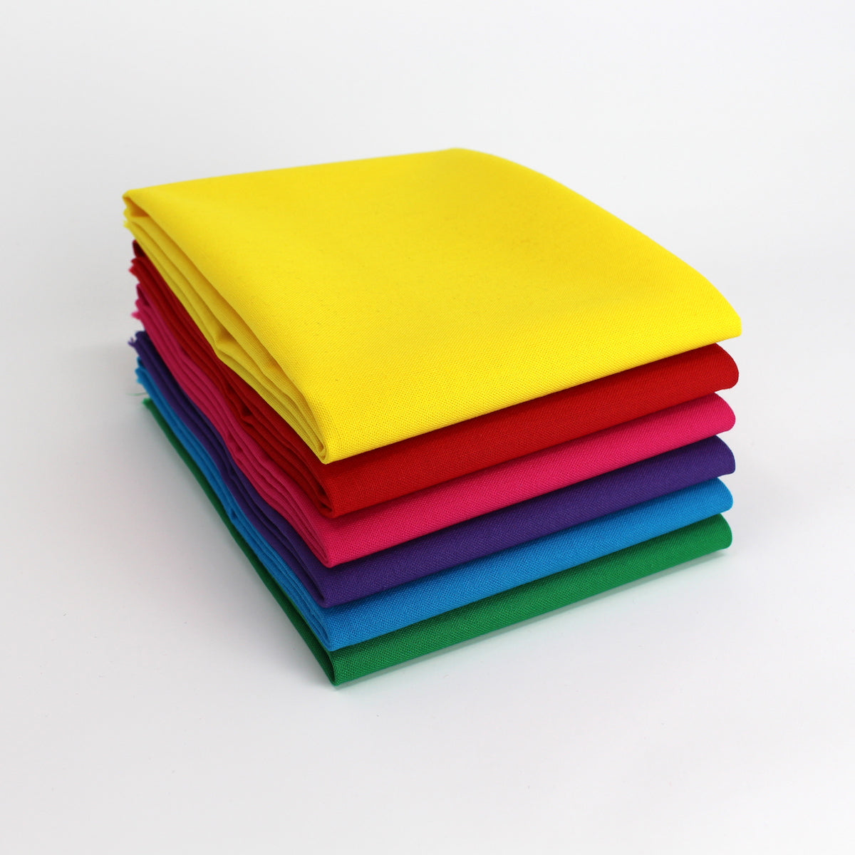 Rainbow Value Five - 6 Fat Quarter Bundle - Kona Cotton