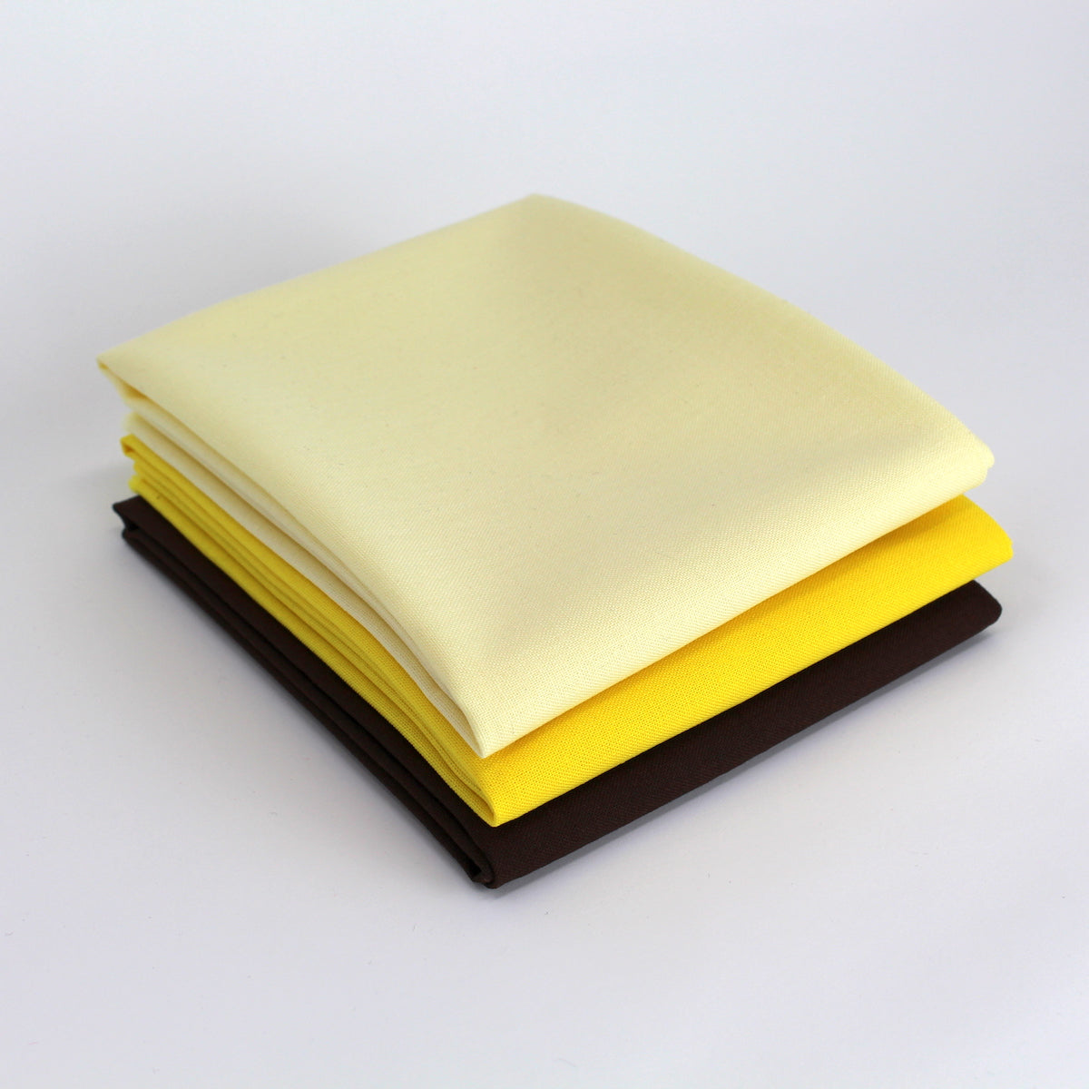 Yellow 3 Fat Quarter Bundle - Kona Cotton