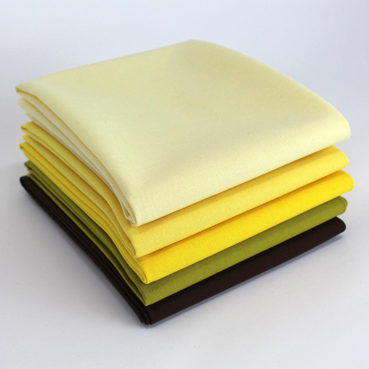 Yellow 5 Fat Quarter Bundle - Kona Cotton