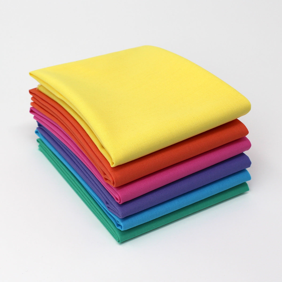 Rainbow Value Three - 6 Fat Quarter Bundle - Kona Cotton