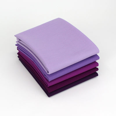 Violet 5 Fat Quarter Bundle - Kona Cotton
