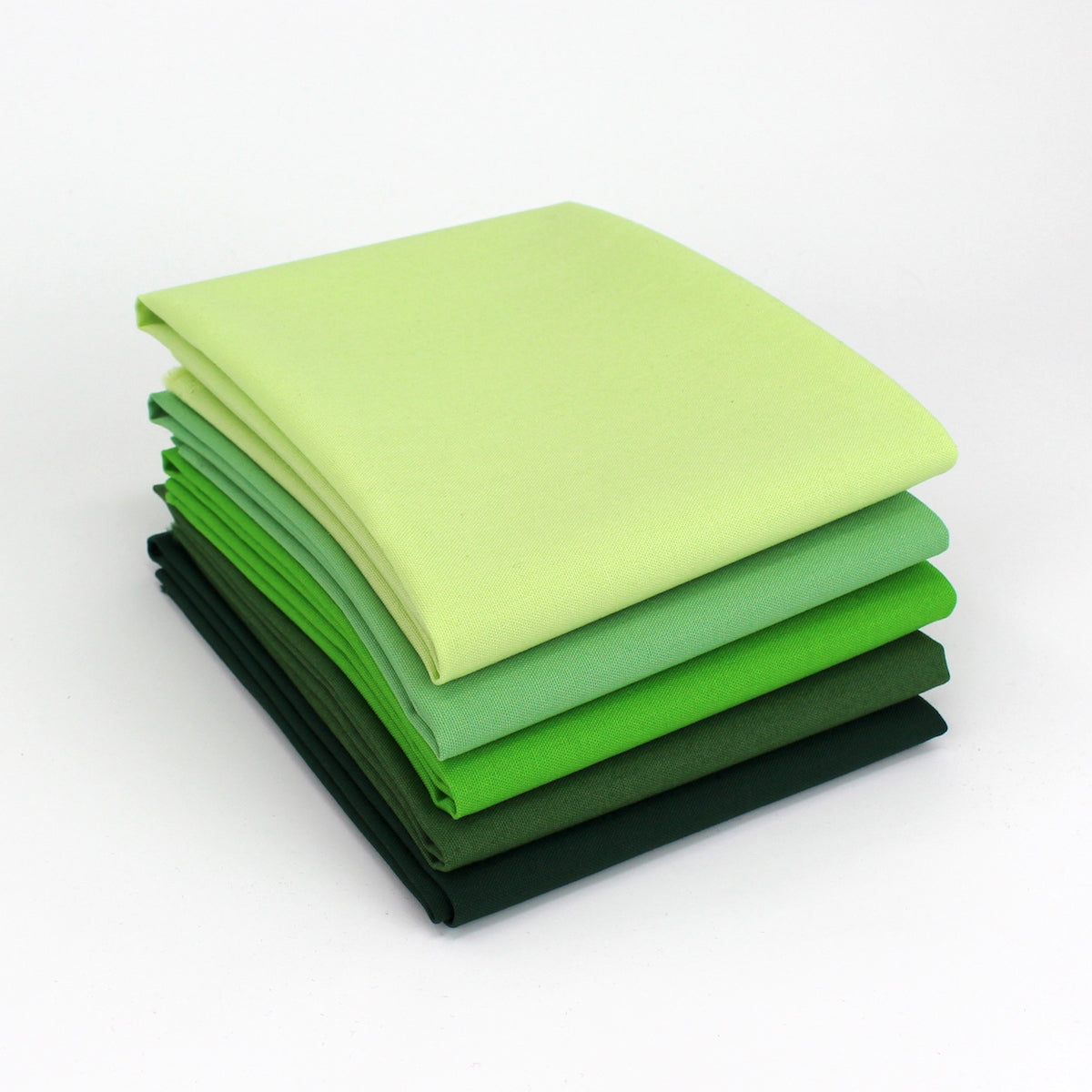 Yellow Green 5 Fat Quarter Bundle - Kona Cotton