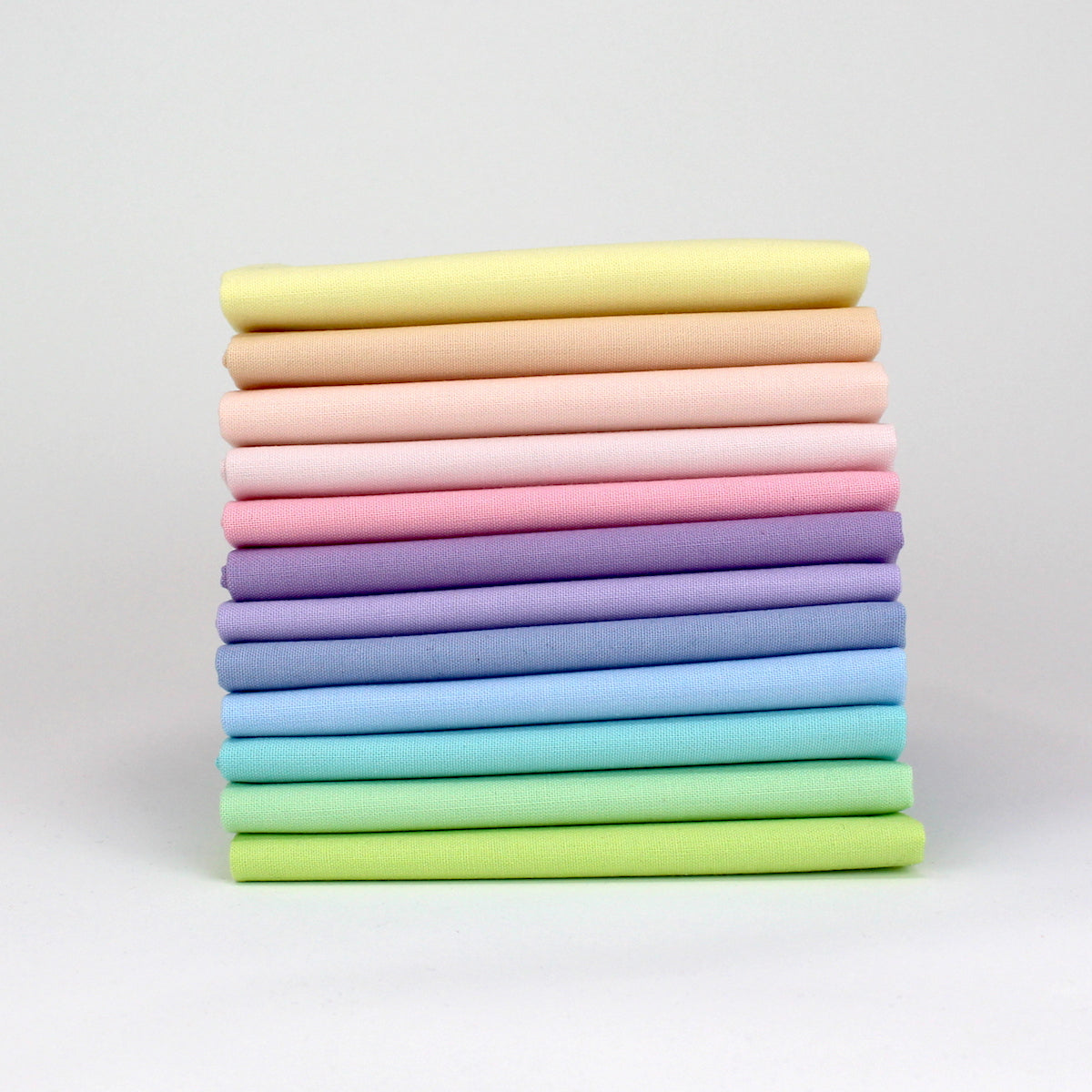 Rainbow Value One - 12 Fat Quarter Bundle - Kona Cotton