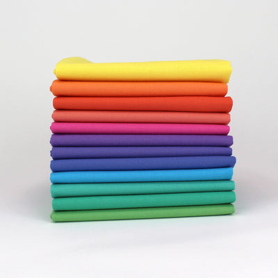 Rainbow Value Three - 12 Fat Quarter Bundle - Kona Cotton