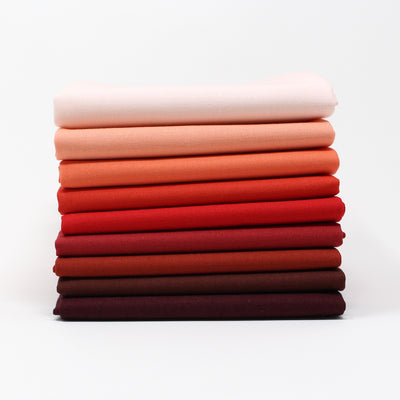 Red 9 Fat Quarter Bundle - Kona Cotton