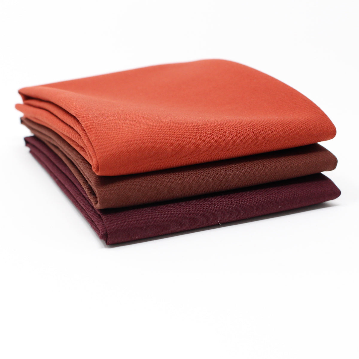 Red Dark 3 Fat Quarter Bundle - Kona Cotton