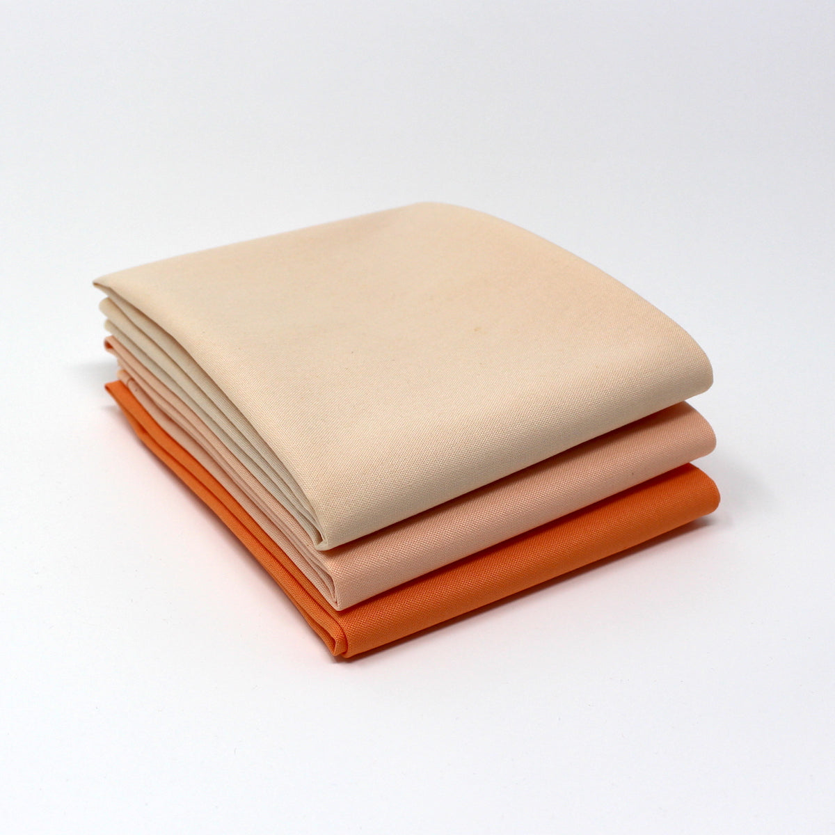 Orange Light 3 Fat Quarter Bundle - Kona Cotton