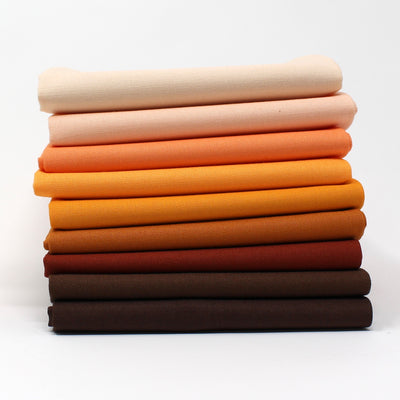 Orange 9 Fat Quarter Bundle - Kona Cotton