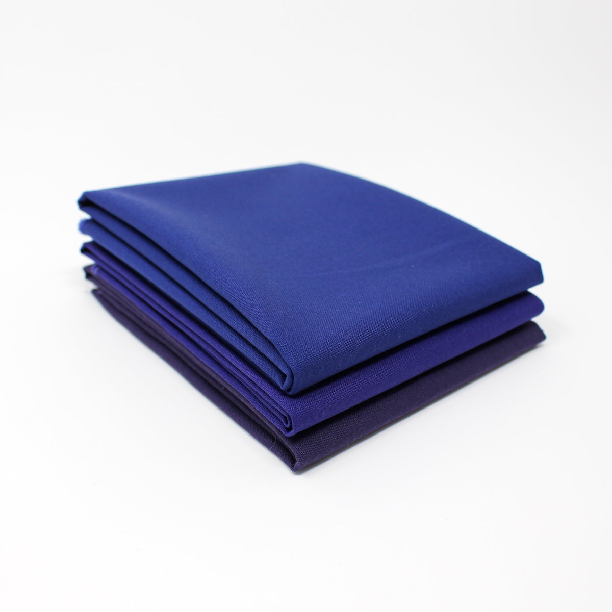 Blue Dark 3 Fat Quarter Bundle - Kona Cotton