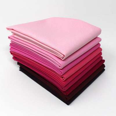 Magenta 9 Fat Quarter Bundle - Kona Cotton