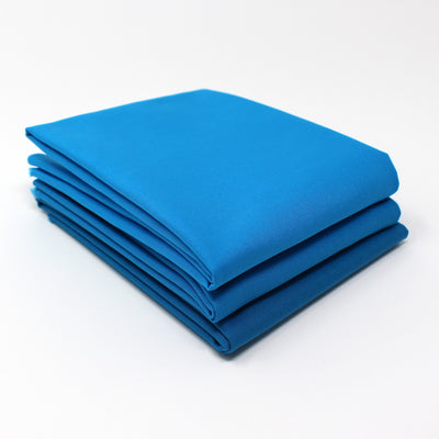 Cyan Medium 3 Fat Quarter Bundle - Kona Cotton