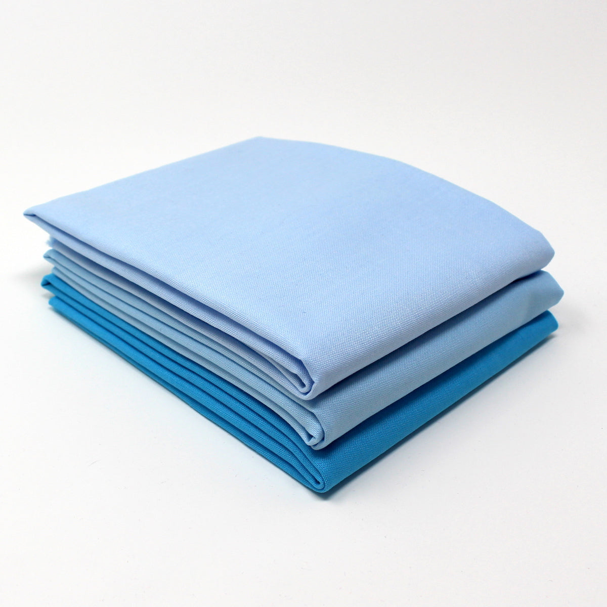 Cyan Light 3 Fat Quarter Bundle - Kona Cotton