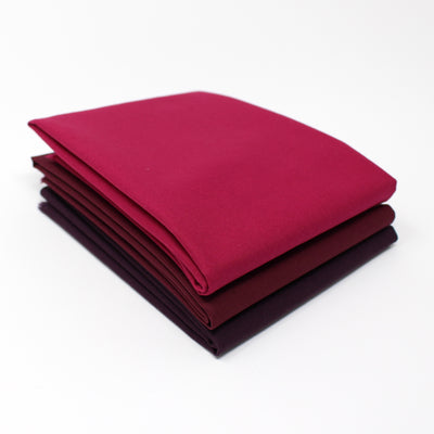 Magenta Dark 3 Fat Quarter Bundle - Kona Cotton