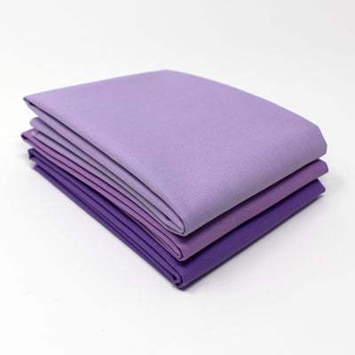 Violet Light 3 Fat Quarter Bundle - Kona Cotton
