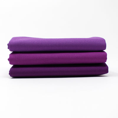 Violet Medium 3 Fat Quarter Bundle - Kona Cotton