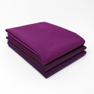 Violet Dark 3 Fat Quarter Bundle - Kona Cotton