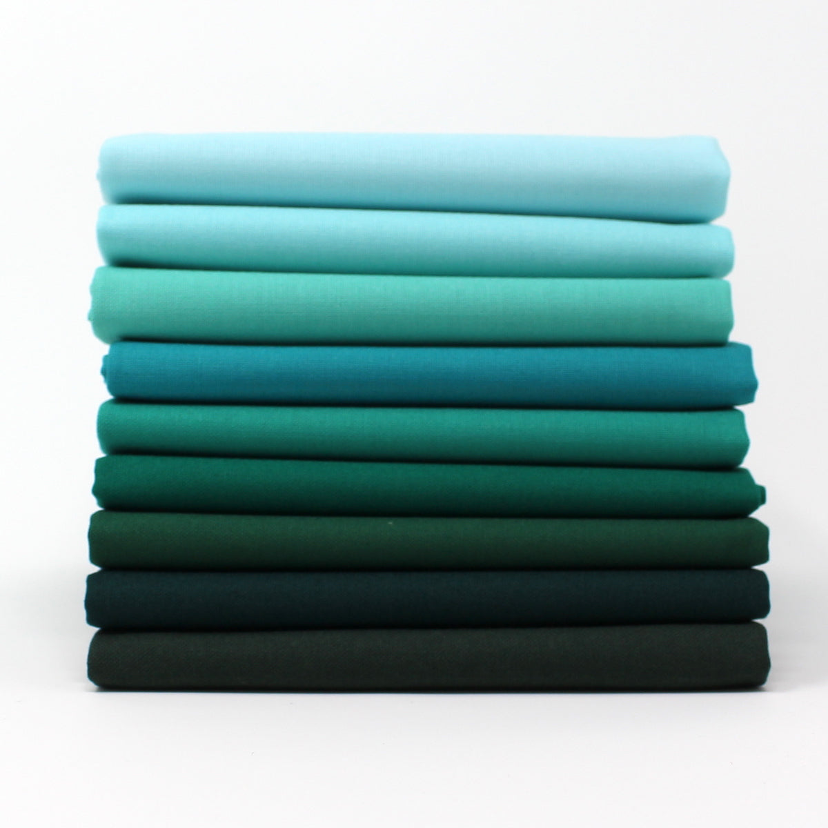 Green Cyan 9 Fat Quarter Bundle - Kona Cotton
