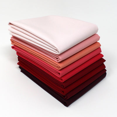 Red Magenta 9 Fat Quarter Bundle - Kona Cotton