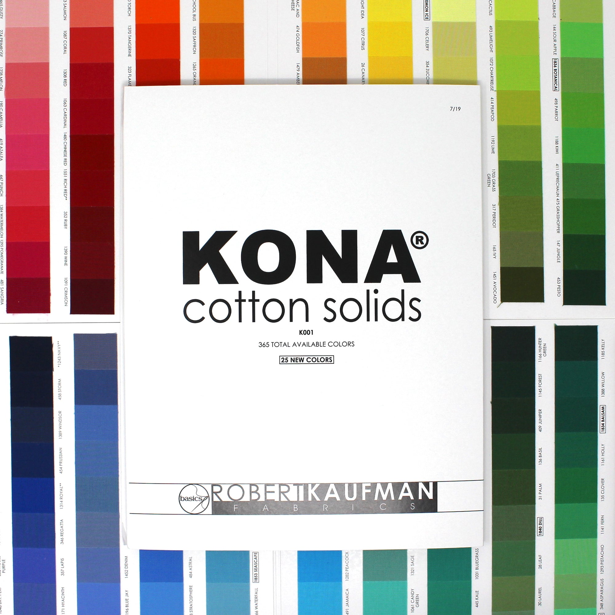Kona Cotton Color Card - 365 Colors