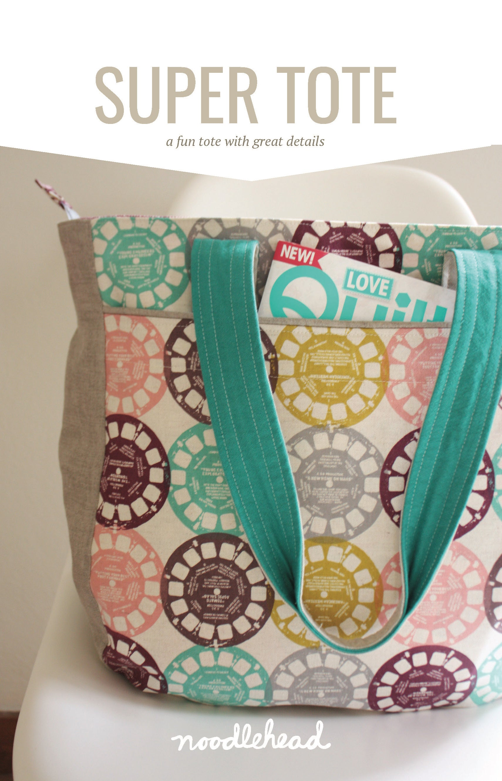 Super Tote Sewing Pattern by Noodlehead