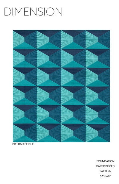 Dimension Quilt Pattern by Nydia Kehnle Design