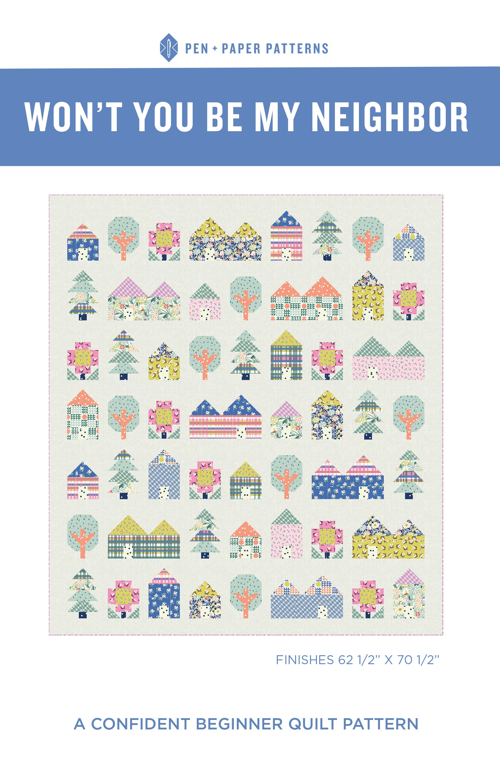 Won't You Be My Neighbor Quilt Pattern by Pen and Paper Patterns