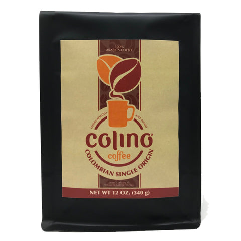 Colombian Single Origin Coffee, Medium Roast, Ground Bag, Colino Coffee. (12 OZ.)