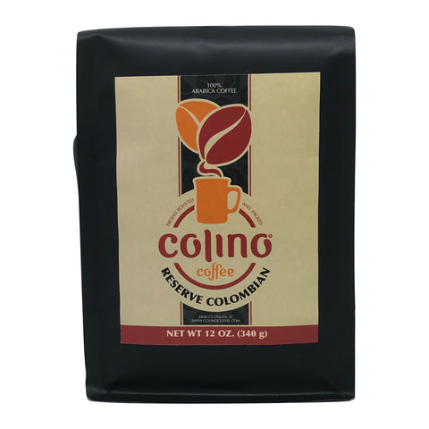 Image of Reserve Colombian Coffee, Exotic, Unique, Medium Roast, Ground Bag, Colino Coffee. (12 OZ.)