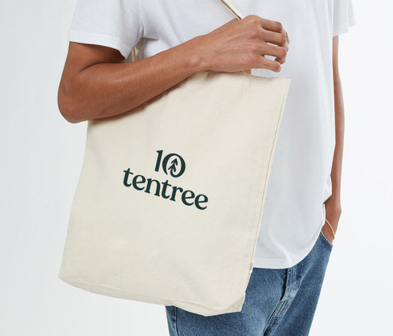 A reuseable tote from tentree.