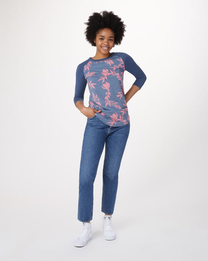 FLORAL AOP DARK DENIM NAVY PORCELAIN ROSE_DARK DENIM NAVY_gallery