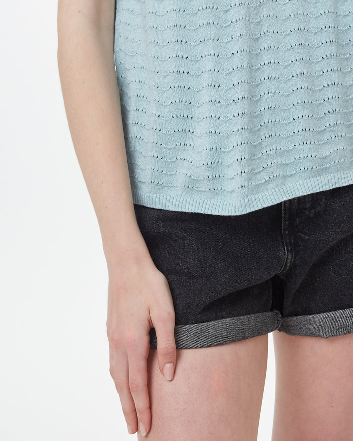 Image of product: W Highline Cotton Shortsleeve Sweater