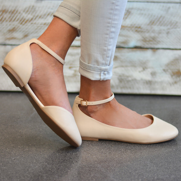 Wide Width D'orsay Ankle Strap Round