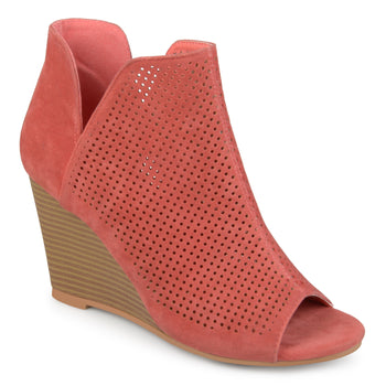 Open Toe Laser Cut Wedges
