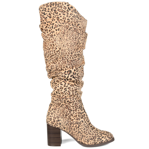 Slouch Heeled Boot Wide Calf