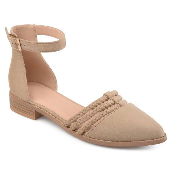 Braided Rope Ankle Wrap Flats