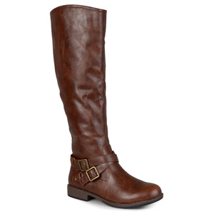 Ankle-Strap Buckle Knee-High Riding Boot