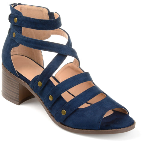 Multi-strap Open-toe Heeled Sandals
