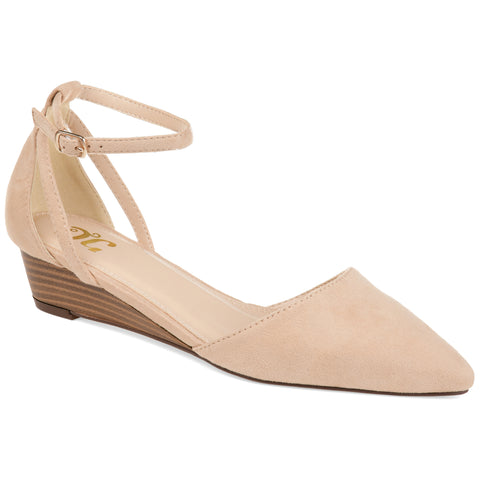 Pointed Toe Stacked Wood Wedge