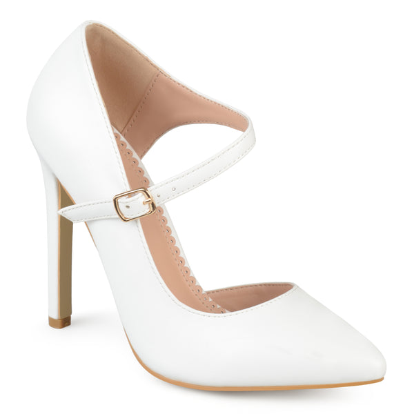 Ankle Strap Pointed Toe D'orsay Heels