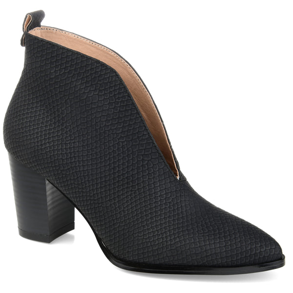 Textured V-cut Bootie