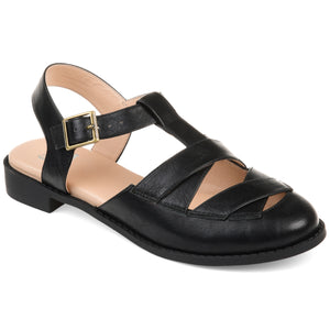 Casual Criss-Cross Round Toe Flat