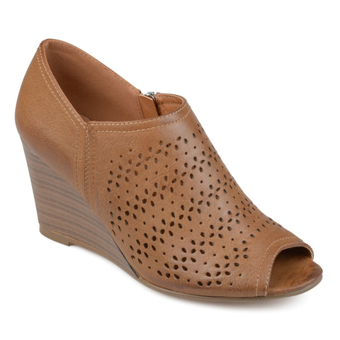 Laser Cut Peep-toe Wedges