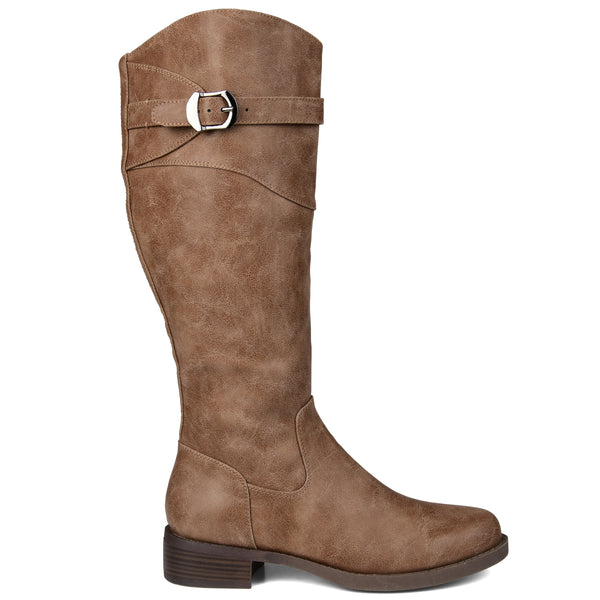 Buckled Riding Wide Calf Boot